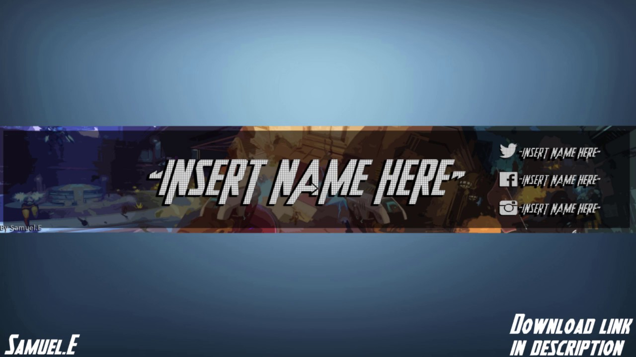 Overwatch Channel Art Template Free Photoshop Download Youtube