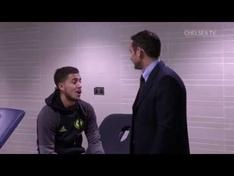 A LEGEND RETURNS: Frank Lampard visits the team in the tunnel and dressing room