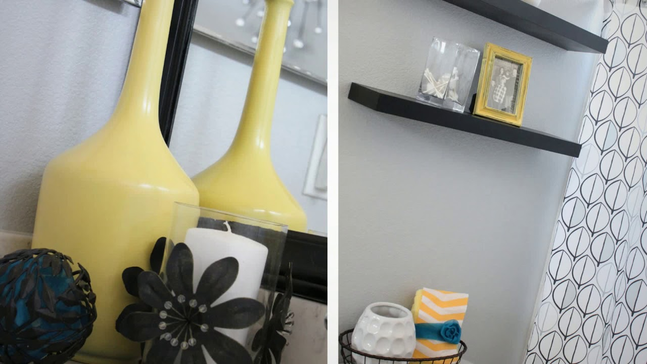 Black White And Yellow Bathroom Ideas
