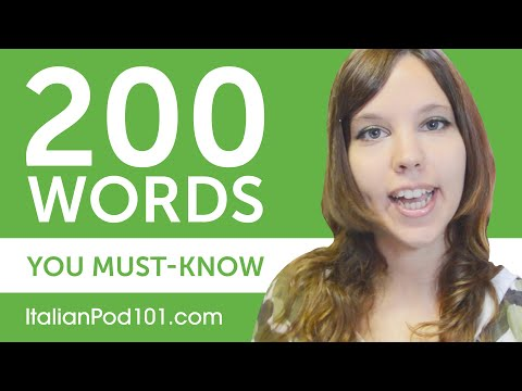 200 Words Every Italian Beginner Must-Know