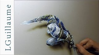 drawing realistic Zed league of legends