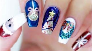 Weihnachts NÄgel🎄6 Ideen🎅🏼easy Christmas Nail Art🌟 Nageldesign Weihnachten WeihnachtsnÄgel Nails