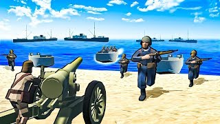 Beach Defense Against Battleships in This Double D-Day Map in Ravenfield!