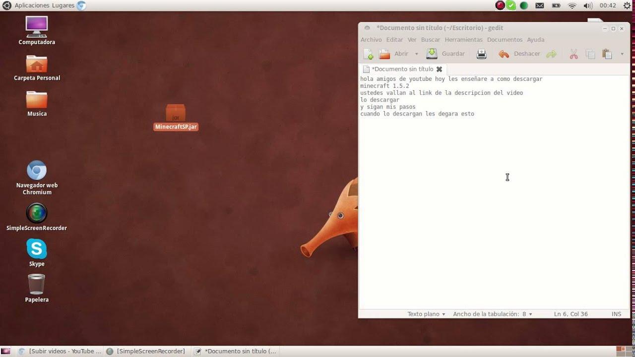 descargar minecraft 1.5.2 ubuntu forums