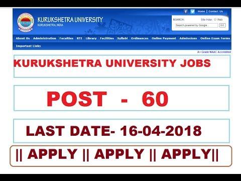 KURUKSHETRA UNIVERSITY KURUKSHETRA vacancy for non-teaching and teaching staff|| Syllabus||
