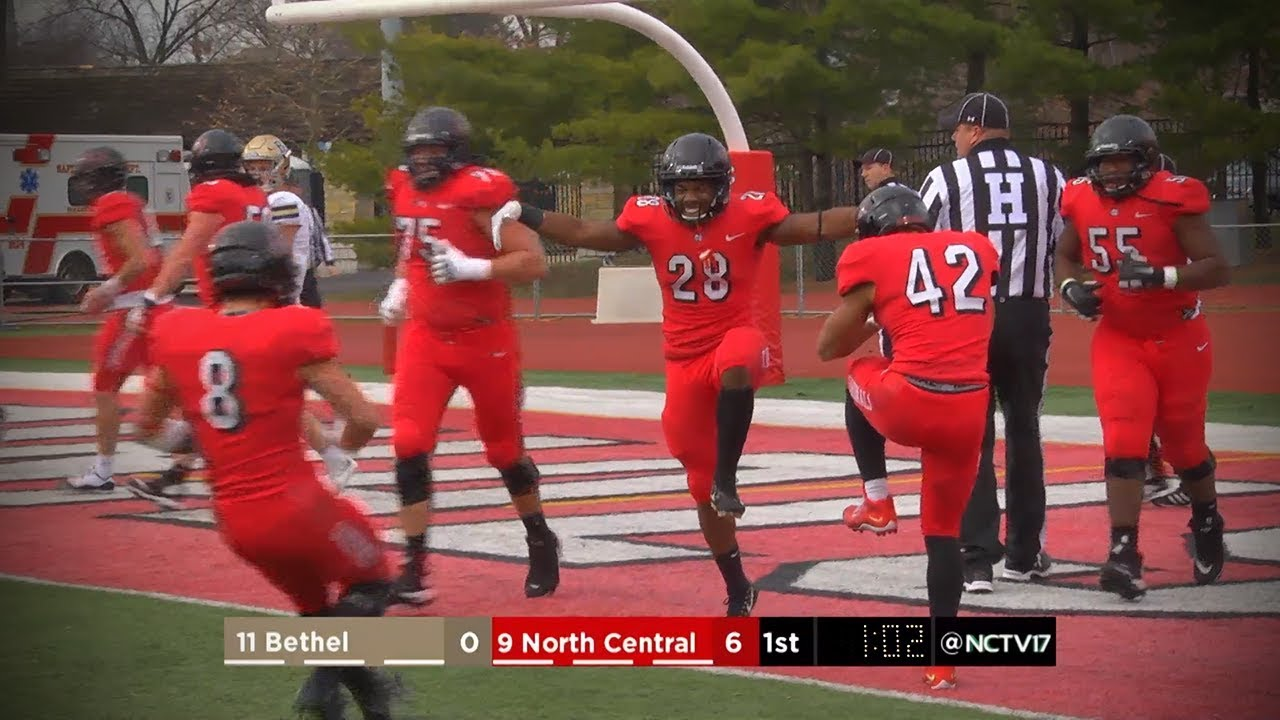 North Central College Football Vs Bethel 11 24 18 Youtube