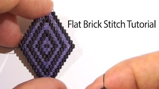BeadsFriends: Basic Brick Stitch tutorial - How to create a rhombus with beads