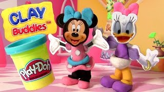 Minnie's BowTique Play-Doh Clay Buddies Minnie Mouse & Daisy Duck Party Disney Bow Toons