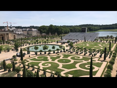 The Palace of Versailles and its gardens with Euro