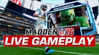 EARLY Madden 16 FULL GAMEPLAY First Quarter With Marcus Mariota Jets Vs Panthers Draft Champions