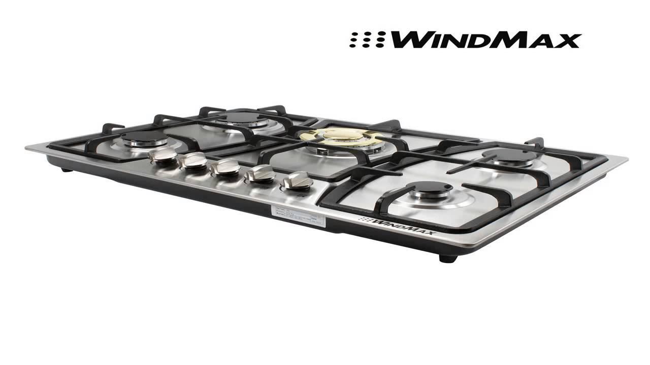 Windmax Euro Style 30 In Stainless Steel 5 Burner Built Stoves Ng Lpg Ga