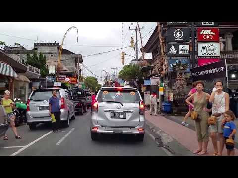 Taxi ride from Bali Denpasar International Airport to Ubud center