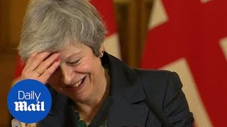 Theresa May gets a laugh as she calls journalist by the wrong name