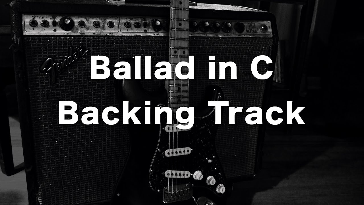 Ballad Backing Track in C - 70 bpm