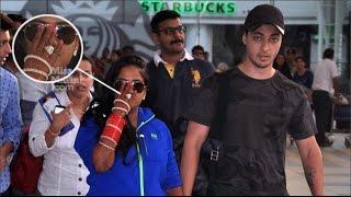Arpita Khan & Her Husband Aayush Sharma On Airport