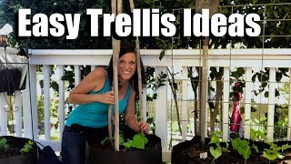 Gambar cover Easy, Inexpensive, DIY, Trellis Ideas, Growing Vertically // Small Space Garden Series #3