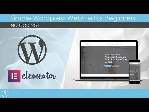 WordPress Website Build For Beginners