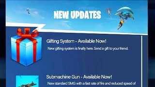 THE OFFICIAL GIFTING SYSTEM RELEASE DATE in Fortnite! (How To Send AND Receive Skin Gifts Fortnite)