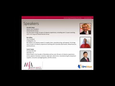 AAFA  Webcast: Real time Operational Intelligence for AFS industry