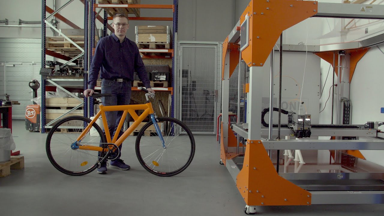 Aalborg Engineers 3D Print a Functional Bicycle Frame in One Go