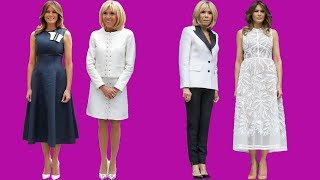 First ladies of fashion! Brigitte Macron and Melania Trump are style opposites