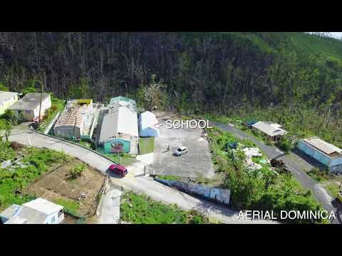 CLIFTON (DOMINICA) ONE MONTH AFTER HURRICANE MARIA - AERIAL DOMINICA