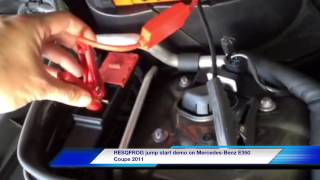 resqfrog jump start demo on mercedes benz e350 coupe 2011