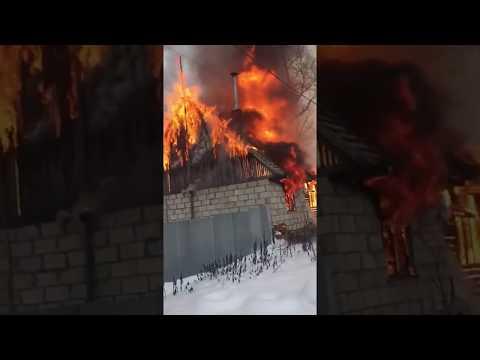 Пожар Жуковский район деревня Грибовка