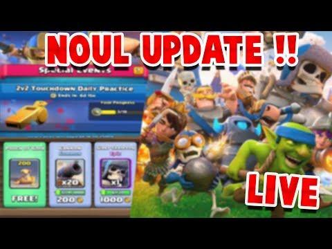 LIVE - CEL MAI MARE UPDATE IN CLASH ROYALE DE PANA ACUM !! /CU Theoxxh !!