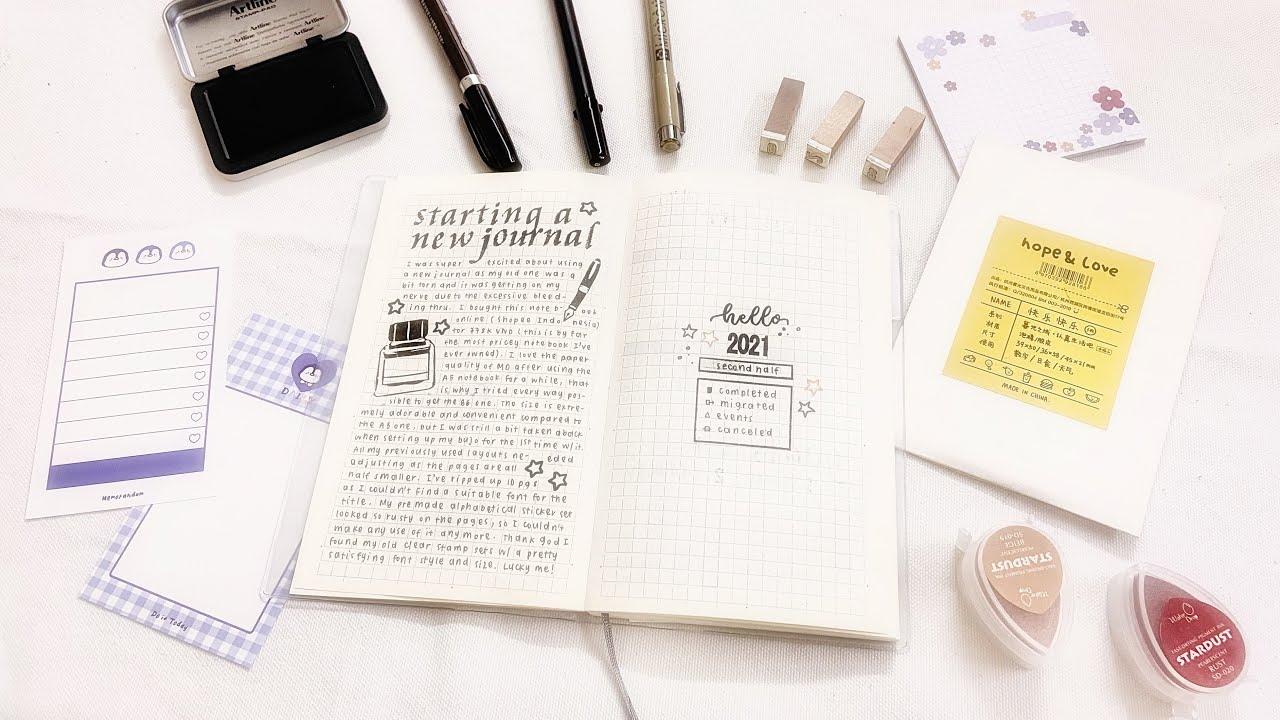 cách bắt đầu sổ bullet journal 2021 mới   a new 2021 bullet journal setup for beginners