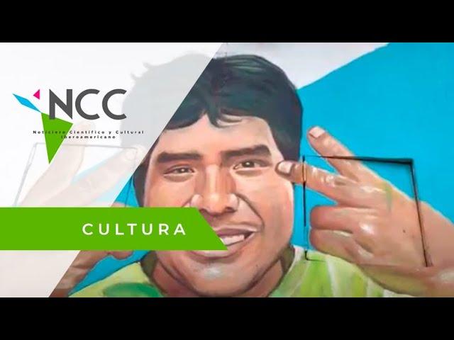 Muralista retrata en paredes del Cerro San Cristóbal a víctimas de la pandemia