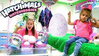 Hatching HatchiBabies in Real Life Hatchery Nursery on Hatchimals Day