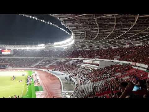 Suasana Menyanyikan Lagu Indonesia Raya di Gelora Bung Karno Setrlah Renovasi