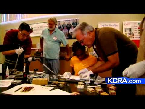 Volunteers Bring Woodworking Back To High School Students