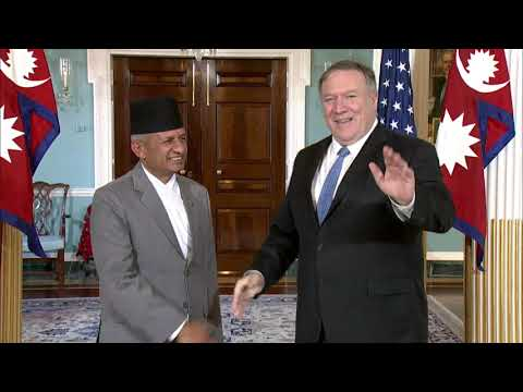 U.S. Department of State: Secy Pompeo meets with Nepalese Foreign Minister Pradeep Gyawali