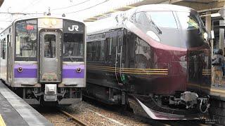 E655系 和(なごみ) 団体臨時列車 東北本線一ノ関駅で E655 series NAGOMI train