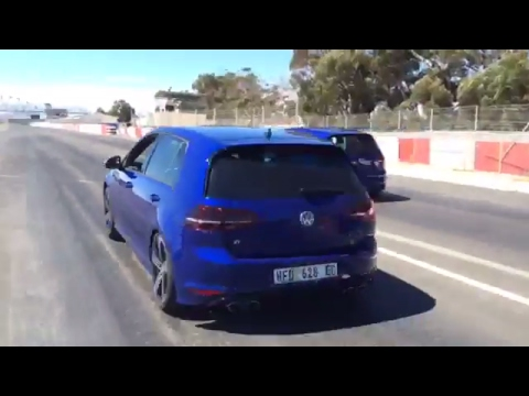 Volkswagen Golf 7 R Launch Control -Kyalami Racing Circuit- South African Grand Prix