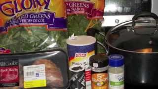 Cooking with Laura-Collard and Turnip Greens