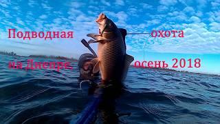 Подводная охота на Днепре осень 2018