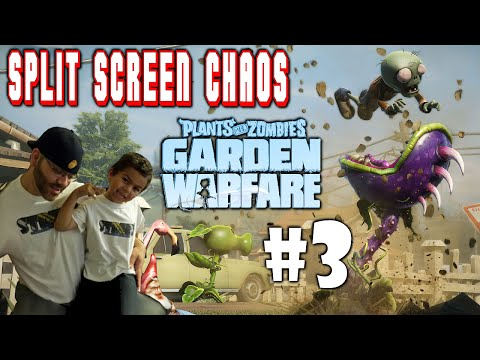 Full Download Plants Vs Zombies Garden Warfare Split Screen Chaos 4 Ps4 Street N Son Vs Zombie