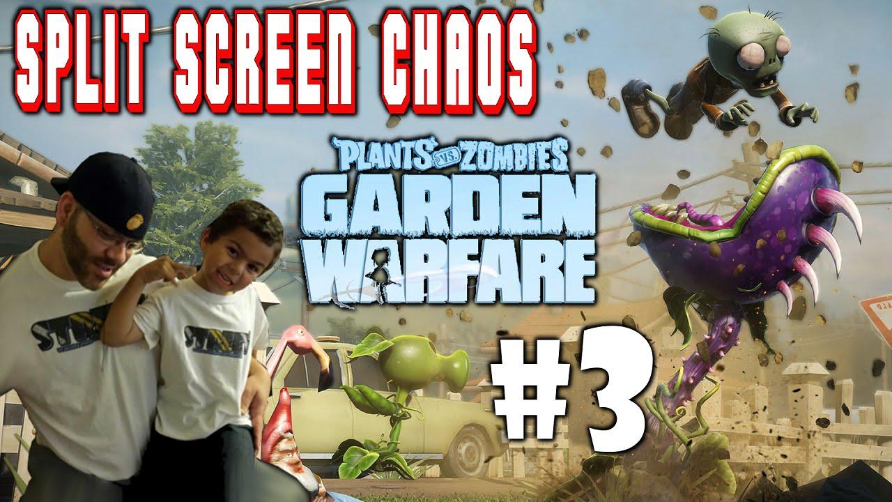 Plants Vs Zombies Garden Warfare Split Screen Chaos 3 Ps4 Street N Son Vs Zombie Scum