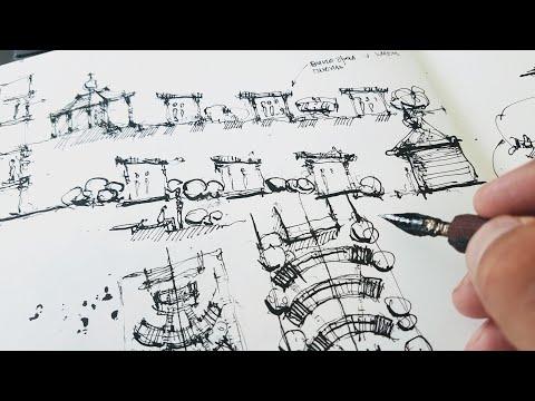 Скетчбук. Проектирование и проектная графика. Скетчинг пером и тушью обзор скетчбука. Эдуард Кичигин