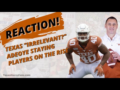 """Download REACTION! Longhorns """"Irrelevant?"""" 