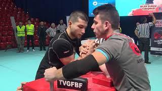 70 Kg Sağ Kol Final Müsabakası - 5. Türkiye Genç Erkekler Bilek Güreşi Yarışması
