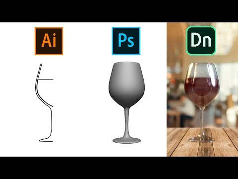 Create a Wine Glass (.obj) in Illustrator & Photoshop for Adobe Dimension