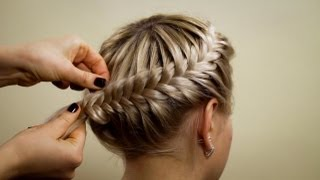 """Прическа из косичек """"Корзинка"""". Hairstyle of braids"""