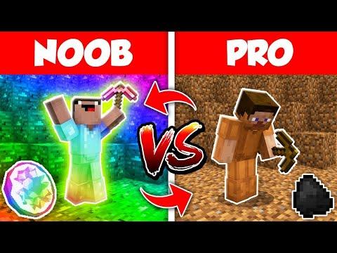 Minecraft NOOB Vs PRO Life In Minecraft Animation DIGGING MINE (Compilation)