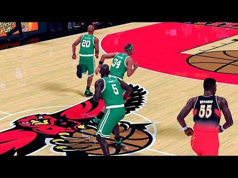 '07-'08 Boston Celtics Vs. '97-'98 Atlanta Hawks | NBA 2K18 PC Gameplay | 1440p 60fps