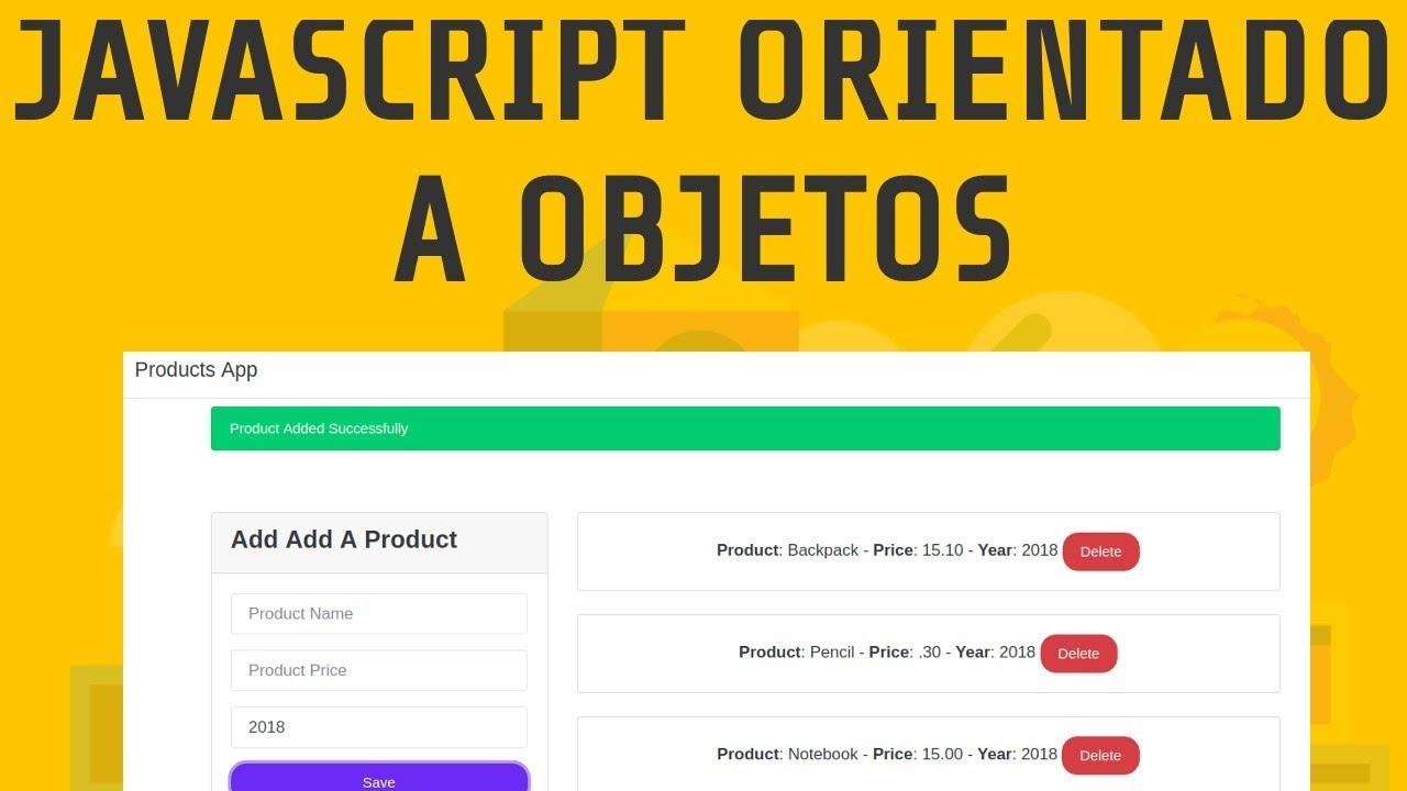 Aplicación de Productos con Javascript Orientado a Objetos