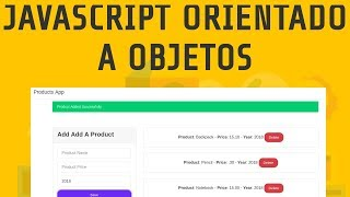 Aplicación de Productos con Javascript Orientado a Objetos